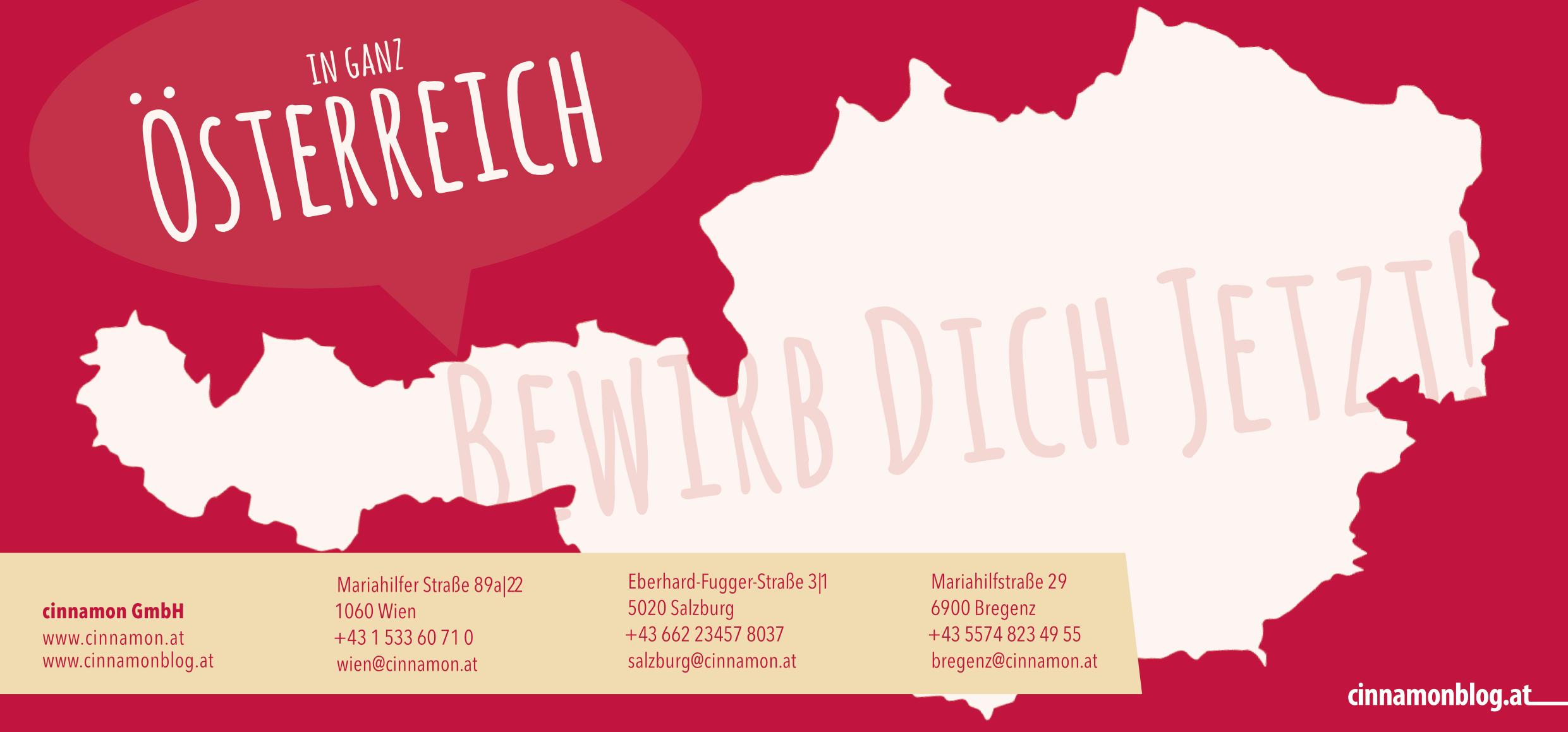 cinnamon Österreich - Arbeite wann Du willst, wo Du willst & soviel Du willst!