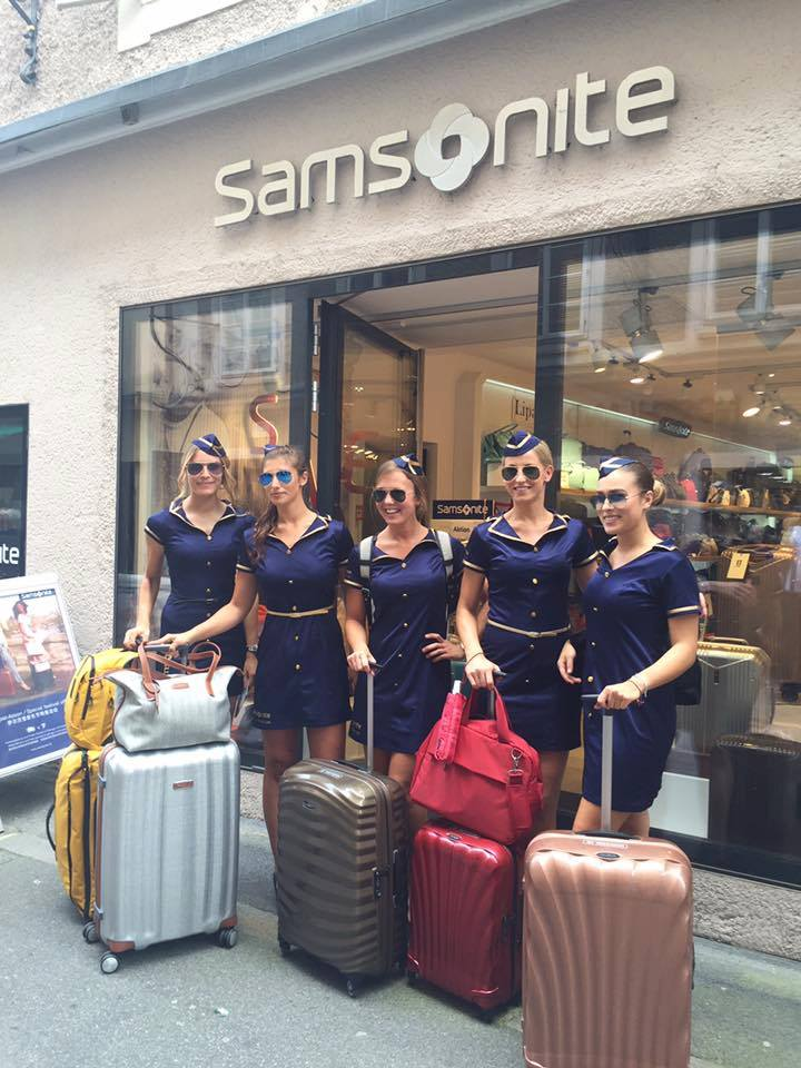 Samsonite Promotion in Salzburg mit cinnamon Hospitality & Promotion