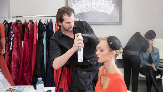 cinnamon Hostess beim KURIER ROMY GALA Styling mit Andreas Raitz von der ULTIMATIVE GROUP