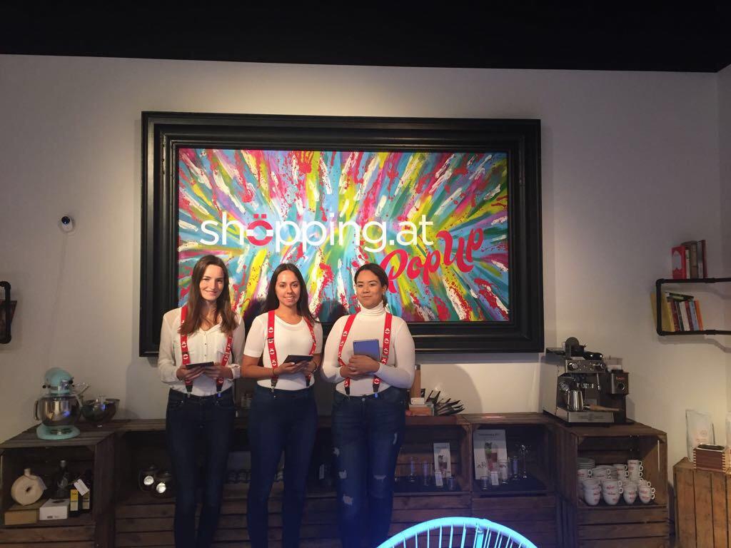 Shöpping.at Pop Up Store Eröffnung mit cinnamon Hospitality & Promotion