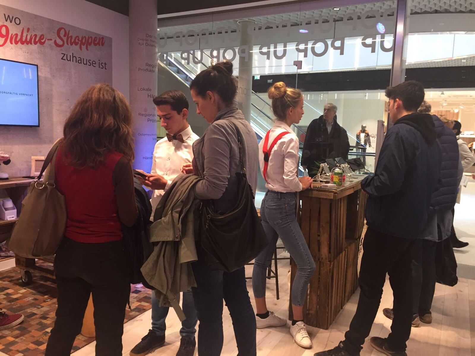 Shöpping.at Pop Up Eröffnung mit cinnamon Hospitality & Promotion, Bildrechte: @cinnamon GmbH