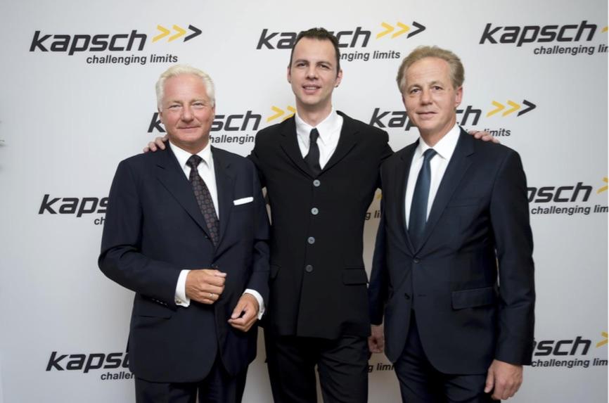Kari Kapsch, Teodor Currentzis und Georg Kapsch, Bildrechte: @ Kapsch AG
