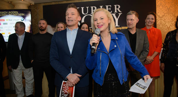 Foto: KURIER/Rainer EckharterAndi Knoll und Katharina Straßer moderieren am 7. April die große ROMY-Gala